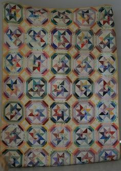 Star of the Orient quilt from the pattern in Scrap Quilts, 1985.