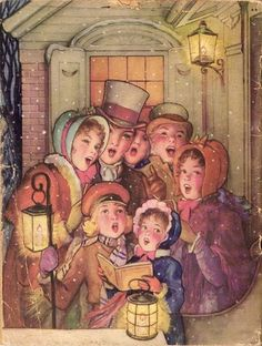 Image result for Paintings of old fashioned Christmas families