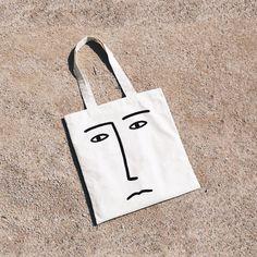 Image of FACE tote bag. By La Mandanga.