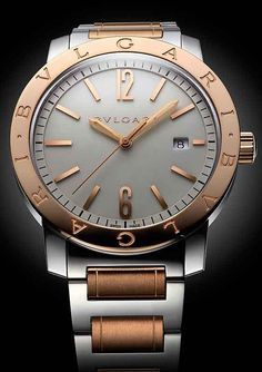 Bulgari Bulgari in two-tone steel and rose gold Elegant Watches, Stylish  Watches, bd4a9bc0696