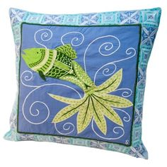 susan sargent pillow | pinned this Fish Tale Accent Pillow from the Susan Sargent event at ...