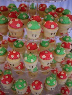 mario bros mushroom cupcake - Buscar con Google
