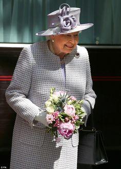 Queen Elizabeth II arrived by train at Edinburgh Waverley railway station for a week of engagements, known as Holyrood week