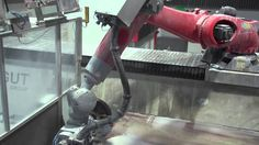 KUKA robot for 3D sculpture milling in stone - powered by SprutCAM Robot for Marmoles y Granitos http://www.marmolesygranitosjosemaria.es/