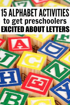 If you're looking for fun and engaging ways to teach your preschooler about the alphabet without forking over a ridiculous amount of money on alphabet-themed toys, puzzles, and electronic devices, this collection of 10 alphabet activities is just what you Preschool Literacy, Preschool Letters, Letter Activities, Literacy Activities, Kindergarten, Alphabet Activities For Preschoolers, Preschool Worksheets, Infant Activities, Teaching The Alphabet