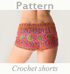 PATTERN Crochet beach shorts PDF by katrinshine on Etsy