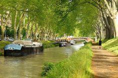 Le canal du Midi en France
