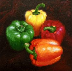 paintings of bell peppers - Google Search