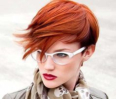 Red Pixie Hair Cut