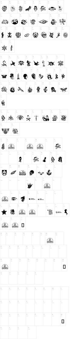 Tattoo Vieja Escuela 1 Font