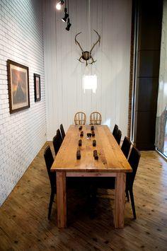 white wood wall @Hjem restaurant