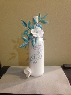 Wine bottle decor on Etsy, $20.00