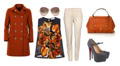 """""""Fall Colors"""" by jaimerochellehuffman ❤ liked on Polyvore featuring Tanya Taylor, Marc Jacobs, Gucci, Christian Louboutin and H&M"""