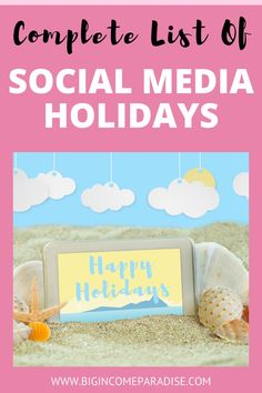 If you want to grow your business on Social Media, then you need to stand out. With this social media holiday calendar you will do exactly that. The Social Media Holiday calendar will help you create amazing content and attract the right people to you. #socialmediaholidays #socialmediaholidaycalendar Social Media List, Social Media Content, Social Media Marketing, Marketing Ideas, Holiday List, Holiday Fun, Holiday Calendar, How To Get Followers, Holiday Market