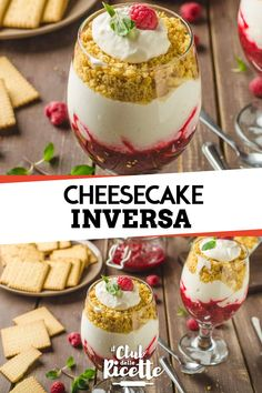 The Raspberry Reverse Cheesecake is the perfect summer recipe to serve as a meal. Chocolate Cheesecake Recipes, Easy Cheesecake Recipes, Cheesecake Bites, Lemon Cheesecake, Pumpkin Cheesecake, Birthday Cheesecake, Mousse, Cake Shots, Panna Cotta