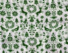 vintage christmas fabric - Google Search