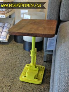 CB2 - industrial side table