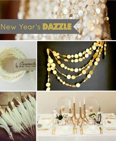 True Event-New Year's Eve Sparkle, New Years Eve Party,  parties, sparkles, and gold metallics (www.trueevent.com)