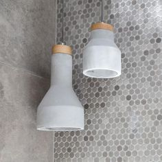 Sculpt Pendants | Concrete & Ashwood