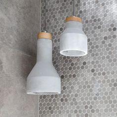 Sculpt Pendants | Concrete & Ashwood