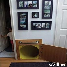 Slide to the basement - genius!