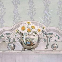 """""""Salt, Pepper and Daisies"""" - by Cori Lee Marvin,  Watercolor"""