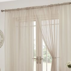 A pair of Luxury plain voile panels,these are ideal modern decor, allowing natural light in but also maintaining privacy. Curtain Heading: Slot Top. Available in 10 colours: Aubergine Purple, Black, Cerise Pink, Coffee Beige, Natural Cream, Red, Silver Grey, Teal Blue, White, Zest Green.   eBay!