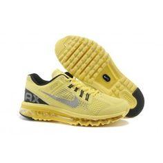 wholesale dealer a5b10 c34f3 Nike Air Max + 2013 Unisex Gelb Grau Silber Nike Max, Cheap Nike Air Max