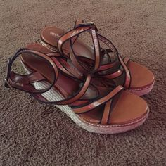 Mossimo Wedges Worn once! Mossimo wedges size 9.5 Mossimo Supply Co Shoes