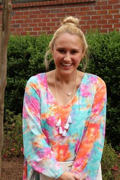 Groovy Baby Dress, Aqua-Fuchsia || The Mint Julep Boutique