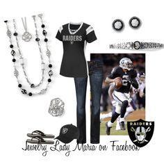 Oakland Raiders featuring lia sophia jewelry