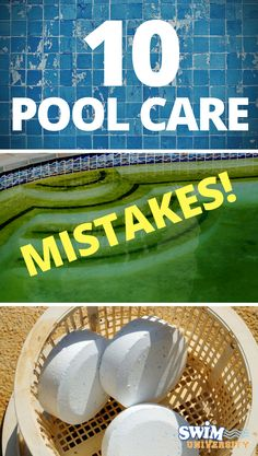 Pool care entails a lot of little details. It's easy to forget one or two of them from time to time. Luckily, all pool maintenance mistakes are fixable. Pool Cleaning Tips, Household Cleaning Tips, Spring Cleaning, Cleaning Hacks, Deep Cleaning, Living Pool, Outdoor Living, Swimming Pool Maintenance, Pool Hacks