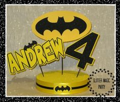 Batman Centerpiece Personalized with Name and Age, Batman Party - Batman Party…