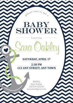 nautical baby shower shower invitation nautical baby shower theme party boyu0027s birthday party