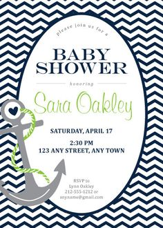 nautical baby shower shower invitation nautical baby shower theme party boyu0027s birthday party