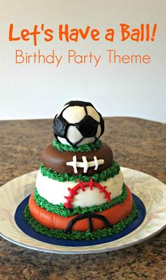 great kids birthday party idea, especially fun for toddler boys! Ball themed birthday party