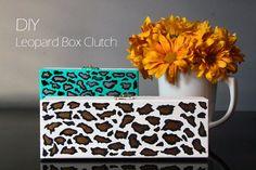 DIY Clutch DIY Leopard Box Clutch DIY Clutch Clutch Tutorial, Diy Tutorial, Diy Clutch, Diy Fashion Accessories, Purses And Bags, Diy Projects, Diy Crafts, Crafty, Beads