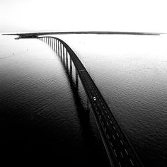 "guillaumeplissonblog: "" Alone on the bridge, French west coast, Ré Island-photo by @guillaume_plisson #lifeatsea #bridge #instabridge #sea #alone #instaalone #bandw #blackandwhite #sealife #seaside..."