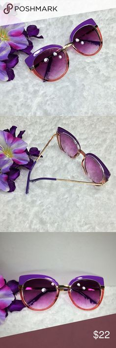"‼️LAST‼️ ""Jackie"" Retro Cat Eye Sunglasses Purple ombre' Frame with purple smoked Lens ⭐️⭐️TOP SELLER - Next Day Ship⭐️⭐️ Take a psychedelic blast to the past and enjoy these super cute and unique dual colored cat eye sunnies! Glossy top frame and clear lower frame with metal gold trimmings! Gorgeous colored lens really gives this a groovy look! Last pic is just to show the fit not the color.  Frame Length 14 cm Frame Height 5.5 cm Nose Bridge width 2.5cm Uv 400 protected Accessories…"