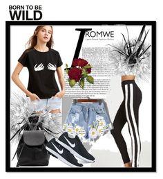 Romwe 10 by ajisa-ikanovic on Polyvore featuring polyvore fashion style NIKE Witchery clothing