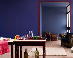 Des murs couleur indigo donnent une profondeur étonnante et apaisante à n'importe quel espace - DULUX
