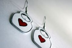 Matryoshka Doll Heart Shrink Plastic Earrings by Cyclop on Etsy, $15.00