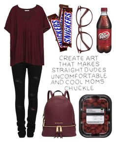 """IDK"" by casualbandgirl ❤ liked on Polyvore featuring Yves Saint Laurent, Zara, Michael Kors, school, nerd and teen"