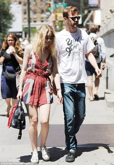 Fanning her flag: Dakota Fanning donned a Union Jack-inspired playsuit by Religion to shop...