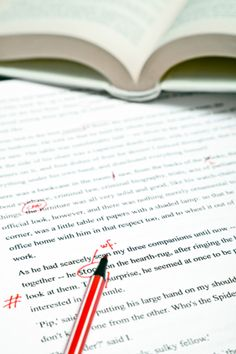How to edit - use red pen - image of novel editing