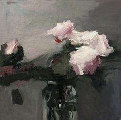 Original artwork from artist Parastoo Ganjei on the Daily Painters Gallery Back Painting, Never Look Back, Flower Art, Art Flowers, David Hockney, Love Flowers, Looking Back, Contemporary Artists, Original Paintings
