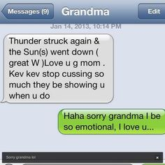 Kevin Durant Gets Hilarious Text from Grandma: 'Stop Cussing so Much' - Funny Texts Text Jokes, Funny Text Fails, Really Funny, The Funny, Super Funny, Look At You, Just For You, Funny Text Conversations, Lol Text