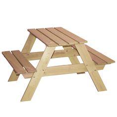 Mesa de picnic natural Más