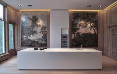 Kitchen in a Herengracht canal house built in 1666. Design by MIYO Studio in collaboration with Studio Ruim. Photo via MIYO Studio. .