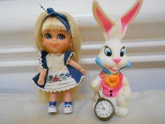 Little Kiddle alice in wonderland and white rabbit